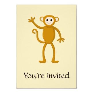 Wellenartig bewegender Affe 12,7 X 17,8 Cm Einladungskarte