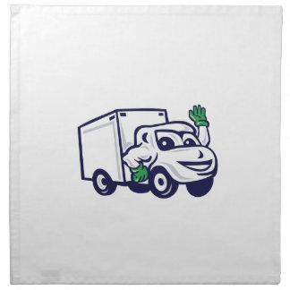 Wellenartig bewegender Cartoon Lieferwagens Stoffserviette