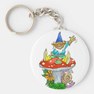 Wellenartig bewegender Gnome auf einem Schlüsselanhänger