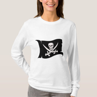 Wellenartig bewegender Jack Rackham der T-Shirt