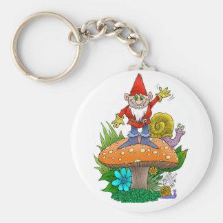 Wellenartig bewegendes Gnome.jpg Schlüsselanhänger