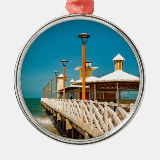 Wellenbrecher-Gehweg an Fortaleza-Strand Silbernes Ornament
