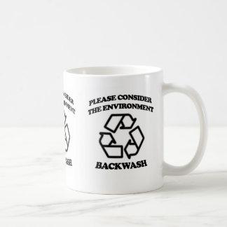 Wellengang-Recyceln Kaffeetasse