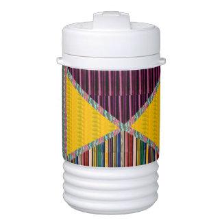 Wellenmuster-Beschaffenheitsgeschenkgruß der Kunst Getränkekühler