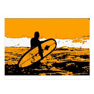 Wellenreiten III Postkarte