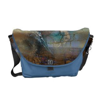 Wellensteinmuster Taschen-Kurier des blauen Brauns Kuriertasche