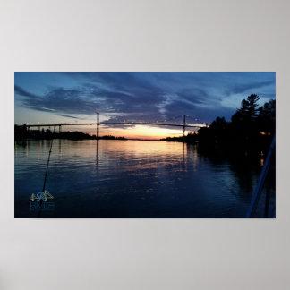 Wellesley Insel-Brücken-Sonnenuntergang-Plakat Poster