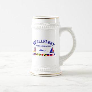 Wellfleet MA Signal-Flaggen Bierglas