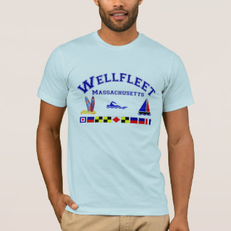 Wellfleet MA Signal-Flaggen T-Shirt