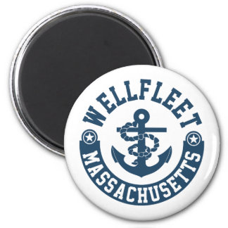 Wellfleet Massachusetts Runder Magnet 5,7 Cm