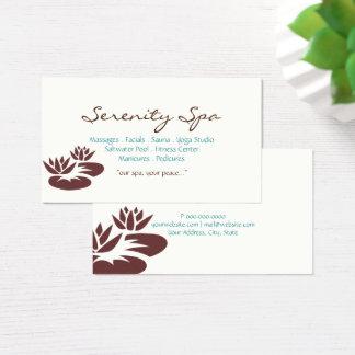 Wellness-Center-Art der Geschäfts-Karten-  Visitenkarte