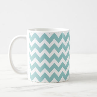 Wellness-Center-blaues Aqua-Zickzack Trendy Kaffeetasse