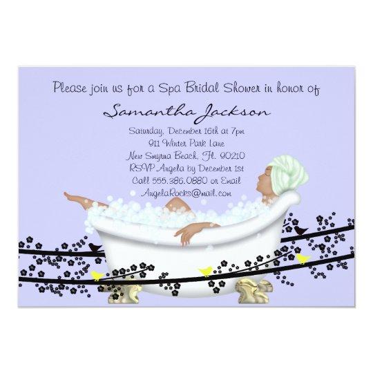 Wellness-Center-Braut-Brautparty laden ein 12,7 X 17,8 Cm Einladungskarte