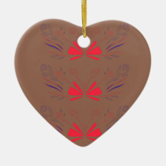 Wellness-Center ethno Elementschokolade, rot Keramik Ornament
