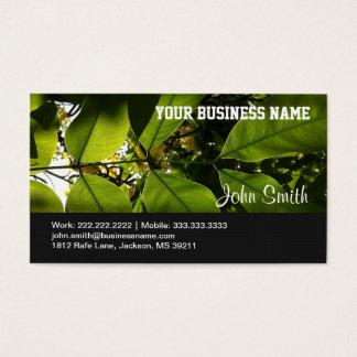 Wellness-Center-Salon-Sommer-Baum und Blätter Visitenkarte