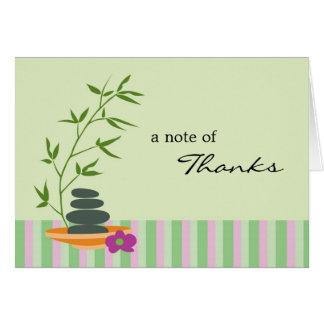 Wellness-Center-Thema danken Ihnen zu kardieren Karte