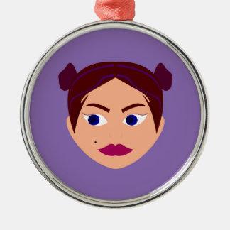 Wellness-Centergütesilber Silbernes Ornament