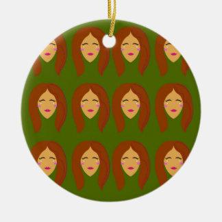 Wellneßfrauen/auf Olive BG Keramik Ornament