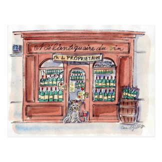Welpe auf Rue Malar, Paris Postkarte