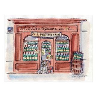 Welpe auf Rue Malar, Paris Postkarten
