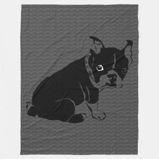 Welpe Bostons Terrier Schuss Fleecedecke