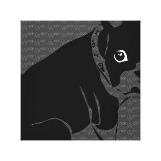 Welpe Bostons Terrier Schuss Galerie Falt Leinwand