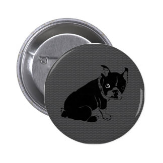 Welpe Bostons Terrier Schuss Runder Button 5,1 Cm