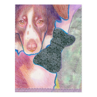 Welpe cachorra Betrugs lazo/mit Bogenpostkarte Postkarte