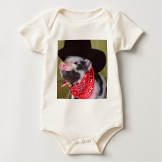 Welpe Cowboy-Baby-Ferkel-Vieh-Babys Baby Strampler