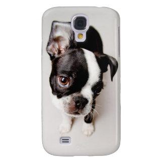 Welpe Edison Boston Terrier Galaxy S4 Hülle