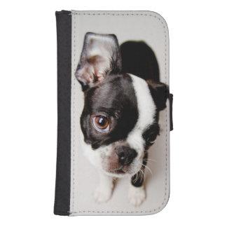 Welpe Edison Boston Terrier Phone Geldbeutel