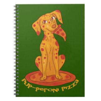 Welpe-peroni Pizza Notizblock