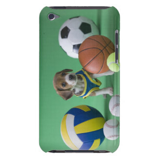 Welpe umgeben durch Sportbälle Barely There iPod Cover
