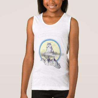 """Welpe/Wolf """"wie Sie mich"""" Mädchen-Trägershirt Tshirt"""