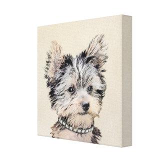 Welpe Yorkshires Terrier, der ursprüngliche Leinwanddruck