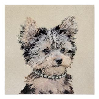 Welpe Yorkshires Terrier, der ursprüngliche Poster