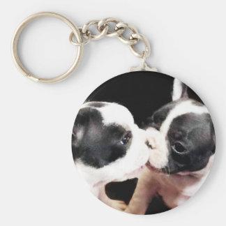 Welpen der französischen Bulldogge Schlüsselanhänger