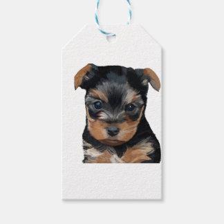 Welpen-Kunst Yorkshires Terrier Geschenkanhänger