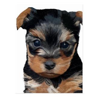 Welpen-Kunst Yorkshires Terrier Postkarte