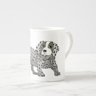Welpen-Liebe-Knochen-China-Tasse Porzellantasse