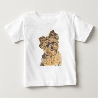 Welpen-Malerei Yorkshires Terrier Baby T-shirt