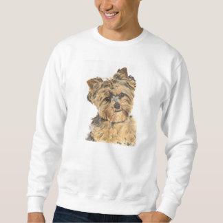 Welpen-Malerei Yorkshires Terrier Sweatshirt