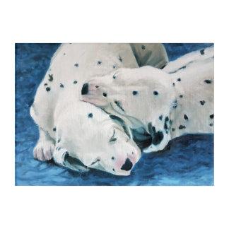 Welpen-Ölgemälde durch Kate Marr Acryldruck