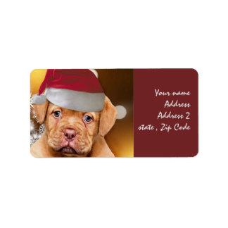 Welpen-Postsendungaufkleber Dogue de Bordeaux Adressaufkleber