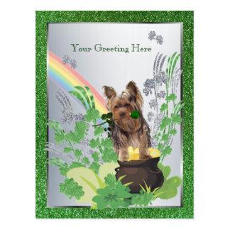 Welpen-St. Pattys Yorkshires Terrier - fertigen Postkarte