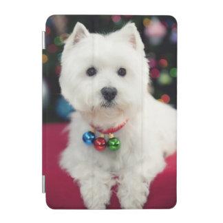 Welpen-tragende Weihnachtsglocke auf Hals iPad Mini Hülle