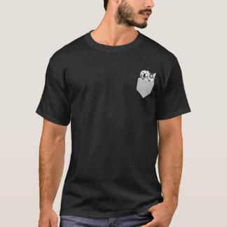 Welpen-und Kätzchen-Taschen-Quadrat niedliches T-Shirt