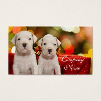Welpen Weihnachtsargentiniens Dogo Visitenkarte