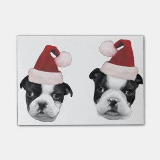 Welpen Weihnachtsbostons Terrier Post-it Klebezettel