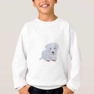 Welpen-Weißhund des niedlichen Babys glücklicher Sweatshirt